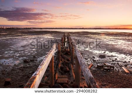 Cleveland pier in the late afternoon. Brisbane, Queensland, Australia.