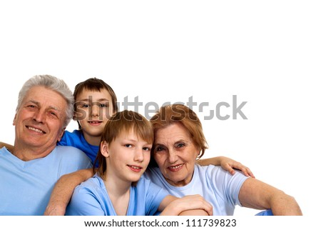 Clever family having a good leisure time in each other's company