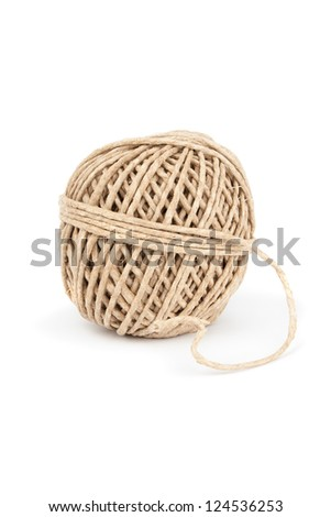 Clew of rope isolated on white background