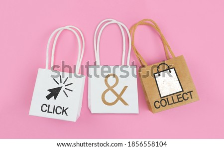 Photo of  click and collect concept, buy online and collect in local store