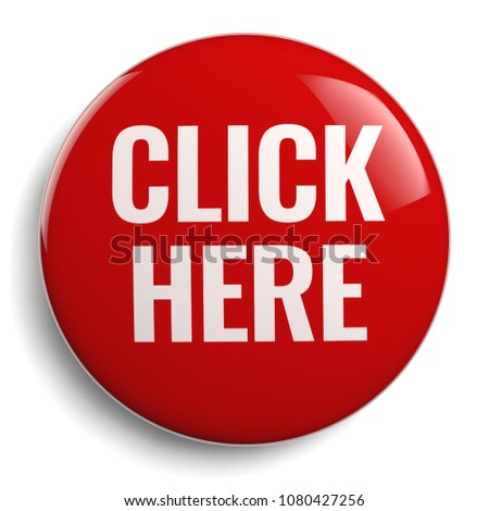 Click Here Button 3D Red Symbol Isolated