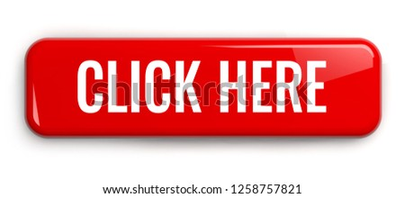Click Here Red Button. Rectangular Isolated 3D Illustration.