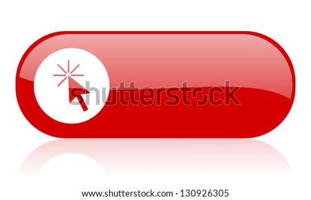 click here red web glossy icon