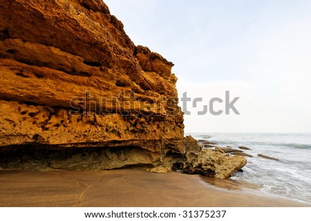Cliff and rock formations along Great Ocean Drive in Australia