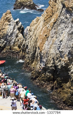Cliff diving cliffs of Acapulco