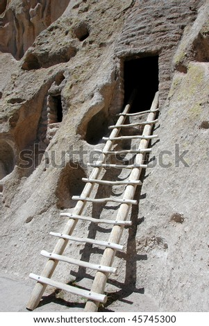 Cliff Dwelling in Bandelier National Monument, New Mexico