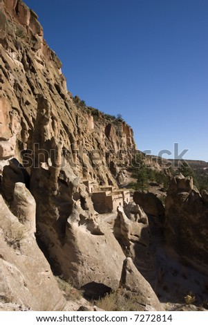 Cliff Dwellings at Bandelier New Mexico near Santa Fe.