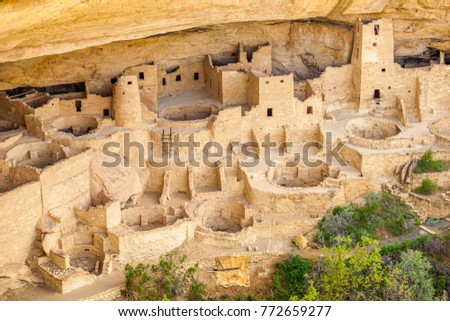 Cliff dwellings in Mesa Verde National Parks, Colorado, USA Stock photo ©