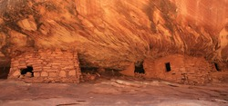 Cliff dwellings in Mule Canyon, Bears Ears National Monument in Utah, USA