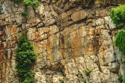 cliff of rock mountain
