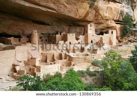 Cliff Palace at Mesa Verde Stock photo ©