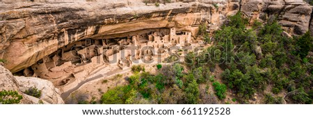 Cliff Palace in Mesa Verde Stock photo ©