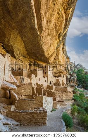 Cliff Palace in Mesa Verde National Park, Ruins of an Anasazi Pueblo, Unesco World Heritage Site. Colorado, USA Stock photo ©