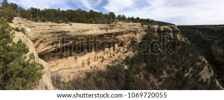 Cliff Palace , Mesa Verde ,  New Mexico.