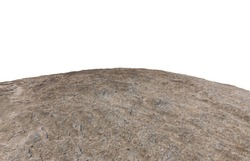 Cliff stone located part of the mountain rock isolated on white background.Clipping path.