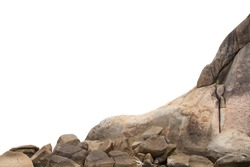 Cliff stones isolated white background, Objects with Clipping Paths for design work