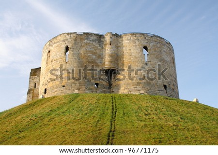Clifford's Tower - all that remains of York Castle, which was originally built by William the Conqueror