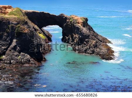 cliffs along the pacific ocean...