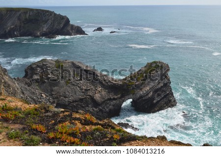 Cliffs and beaches at the Costa Vicentina Natural Park, Southwestern Portugal #1084013216