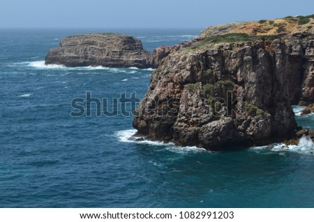 Cliffs and geological unconformities at the Costa Vicentina Natural Park, Southwestern Portugal #1082991203