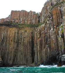 Cliffs around Bruny Island Tasmania are a sight for sore eyes.
