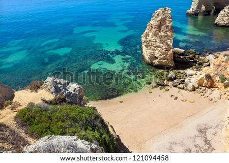 Cliffs at Algarve beach, south of Portugal