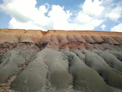 cliffs eroded by rainwater in Dompak Island, Indonesia