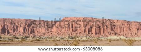 Cliffs in Ischigualasto natural park, San Juan, Argentina. UNESCO worl heritage site, and a major touristic destination.