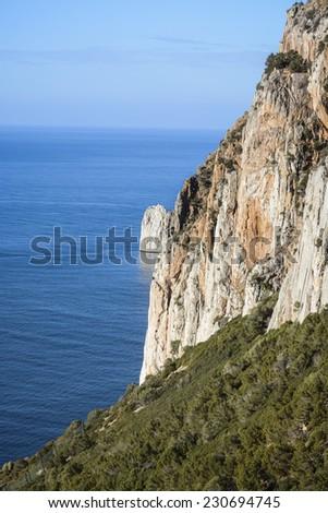 Cliffs in Sardinia / Limestone cliffs overlooking the sea