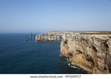Cliffs in the Algarve, Portugal