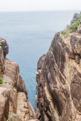 Cliffs near Kandasamy (Koneswaram) temple in Trincomalee, Sri Lanka