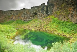Cliffs of Asbyrgi (Asbergi), northern Iceland