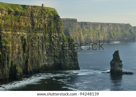 Cliffs Of Moher and Branaunmore stack, Co. Clare, Ireland