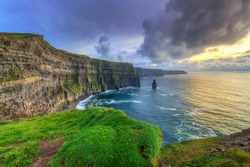 Cliffs of Moher at sunset, Co. Clare, Ireland
