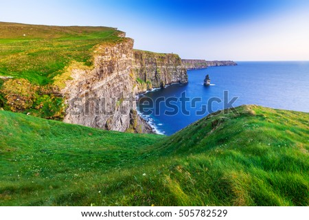 Cliffs of Moher at sunset in Co. Clare, Ireland Stock fotó ©