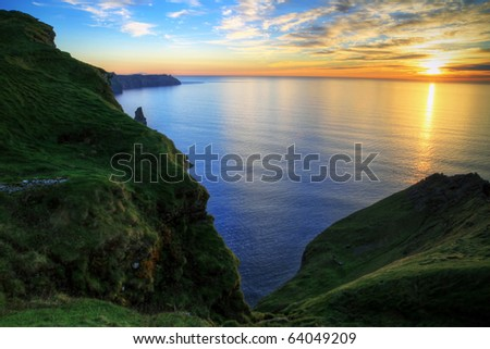 Cliffs of Moher at sunset - Ireland