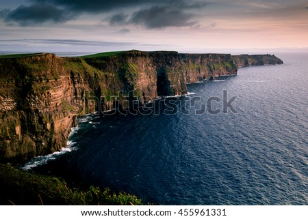 Cliffs of Moher in Clare county - Shutterstock ID 455961331