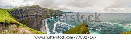 Cliffs of Moher panorama, Ireland #770327167