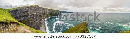 Cliffs of Moher panorama, Ireland