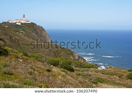 Cliffs of Roca Cape in Portugal, West most point of Europe ( Cabo da Roca)