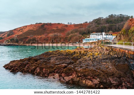 Cliffs on the Island of Jersey in the English Channel, Channel Islands, United Kingdom, Europe