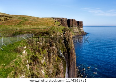 Cliffs on the Isle of Skye, Scotland, UK. #1174363951