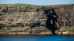 Cliffs on the western coast of Orkney Islands