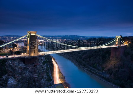 Clifton Suspension Bridge, Bristol, UK - stock photo