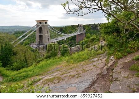 Clifton Suspension Bridge, Bristol, UK #659927452
