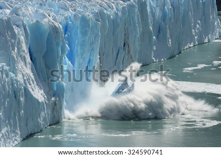 Photo of  Climate Change - Antarctic Melting Glacier in a Global Warming Environment