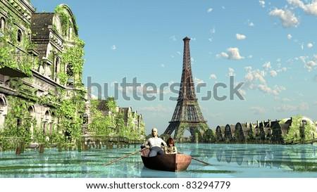 Climate change flood Paris france