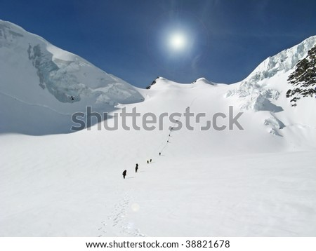 climb the snowy mountains of the Alps