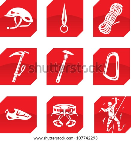 climber icons - stock photo