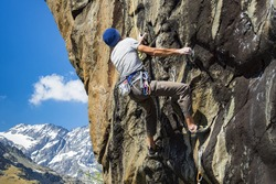 Climber in the alps